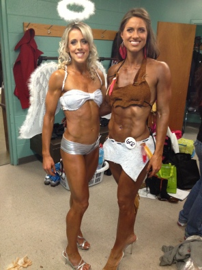 One of the amazing women I met backstage
