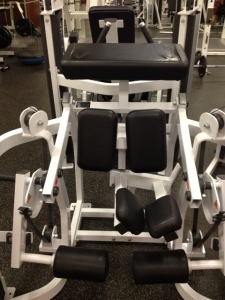 This is the hamstring machine I use... it looks intimidating, but it's actually awesome!