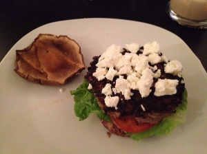 Lamb Burger and Portobello Bun